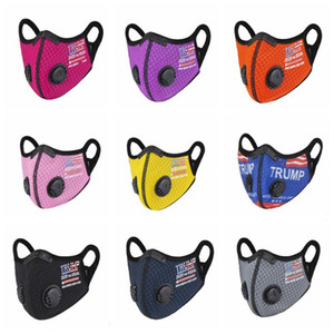 Trump Cycling Mask Election Adult Children Masks With Breath Valve Dustproof Hazeproof Breathable Mask Outdoor Sports Mouth Cover DHC3144