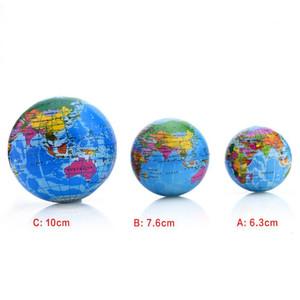 الإجهاد 6-10CM الإغاثة خريطة العالم رغوة الكرة الأطلس غلوب بالم الكرة كوكب الأرض الكرة التفاعلية كرات المطاط للحصول على طفل