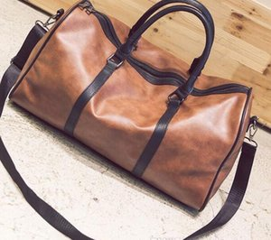 Hot men luxury women travel PU Leather duffle bag brand designer luggage handbags large capacity sports bag55*25*30cm