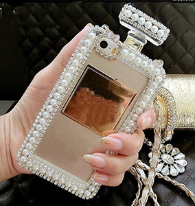 Diamond Crystal Cute Pearl Perfume Bottle Shaped Chain Handbag Case Cover for iPhone11 pro max XS MAX XR 5S 6 6PLUS 7 8PLUS Case