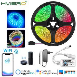 Wifi Ir Controller Rgb 5050 2835 Led Light Strip Rgb 5m 10m 15m 20m Tape Diode Dc 12v Remote Control Adapter Swy jllQGU carshop2006