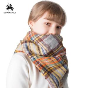 NO.ONEPAUL New scarf autumn and winter imitation cashmere children's plaid scarf fashion retro shawl unisex