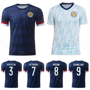 2020 2021 Scotland Soccer Jersey 9 DYKES 17 CHRISTIE 21 FRASER 33 O'DONNELL McTOMINAY McGINN McGREGOR Football Shirt Kits Home Navy Blue