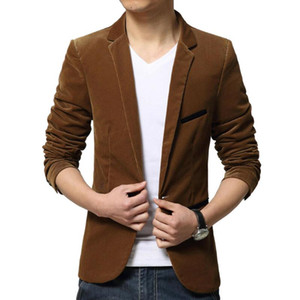 Hirigin Mens Fashion Marca Blazer estilo britânico Casual Slim Fit Suit Jacket Mens Blazers homens revestimento do revestimento para homens