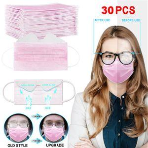Маски анти туман Одноразовая лица 3-Layer Mask Защита с ушной Рот Face Санитарные Открытый Маски HU89
