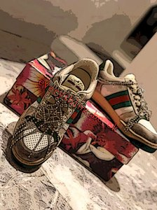 Gucci shoes Mens Turnschuhe Distressed klassischer Modedesigner Schuhe lusso Schmutzige schnüren sich oben Segeltuch Shaved PU-Leder-Sport-Turnschuhe Schmutzige Turnschuhe m1