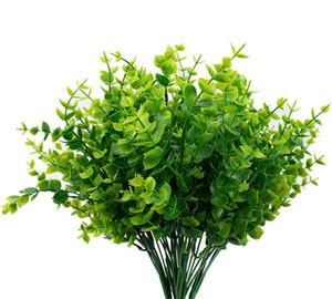 Artificial Boxwood Stems vegetal Tallos Artificiales Plantas Resistentes al aire libre Falsas para la casa de campo Home Garden Wedding Pati FWB306