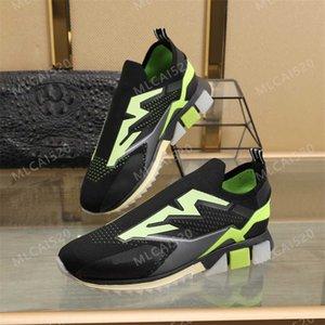 Nova coleção Stretch Malha Sorrento Sneakers Logotapepe Borracha Borracha Sola Slip-On Amor Homens Homens Mulheres Casual Sapatos