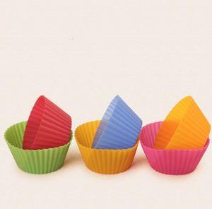 Pastel de silicona Muffin Cupcake Cup Molde Molde redondo Tarta Molde Molde fabricante Molde para Bandeja para niños Banear Jumbo FFE3865