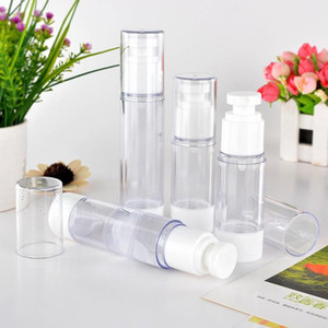 30ml Portable Cosmetic Packaging Vial Plastic Empty Containers Bottle 50ml Transparent Refillable Vial Airless Spray Pump Bottle
