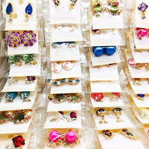 Wholesale 60 Pairs Assorted Women's Fashion Jewelry Beautiful Rhinestone Earring Stud Earrings Mix Styles Brand New Dropshipping