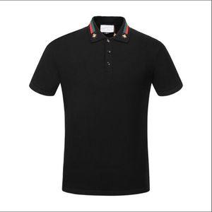 Sommer 18ss Designer Tag Snake Print Kleidung Männer Stoff Brief Polo G T-Shirt Kragen Casual Frauen Tshirt T-Shirt Tops G302
