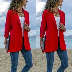 STOCK Office Lady Jackets Women Slim Fit Business Coat Solid Color Jacket Coat Drop Shipping Good Quality