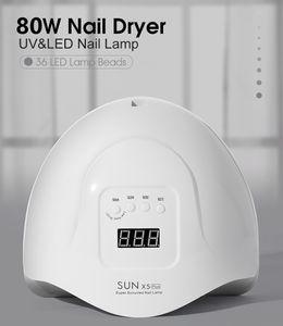 Nail phototherapy machine quick drying lamp tool set full set nail baking LED lamp dryer quick drying 80 watts