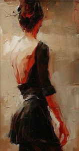 Andre Kohn Portrait Art High Quality Handpainted Sexy Woman Portrait Oil Painting On Canvas Wall Art Home Deco Multi Sizes Available 5