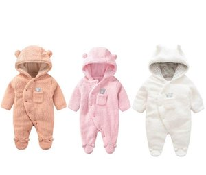 3Color Winter fleece baby romper newborn rompers keep warm Infant jumpsuit baby clothes one piece clothing newborn clothes
