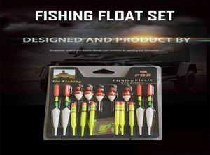 1 Set (15pcs) Vertical Sea Buoy Pêche Flotteurs Taille Assorti Pour la plupart des types de pêche à la ligne avec Caoutchoucs de fixation Leurres wmtCbq