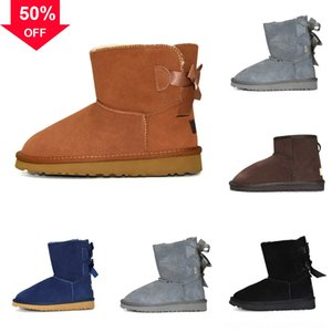 Casual Lady Fashion Middle Snow Boots Women's Rain Foot mini Water Shoes Short heel auugg's Flush Classic Australia high Tube snow boot Shoe