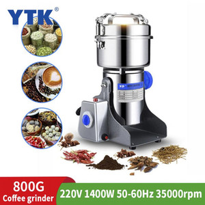 220V 800G 1400W Electric Coffee Grinder Kitchen Salt Pepper Grinder Powerful Bean Spice Nut Seed Coffee Bean Nut