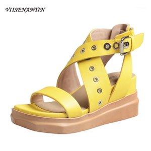 2020 Estate Nuove scarpe col tacco alto Ins Tide Roma Net Wild Pelle Red Inner Inner Eighing Weddals Sandali Women1