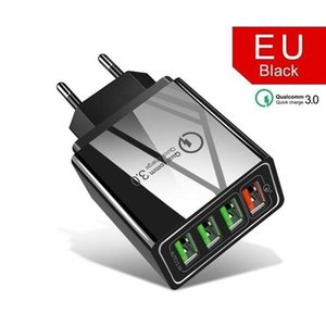Quick Charger QC 3.0 48W USB Charger 4 Ports Adapter For EU US UK Plug Wall smart Phone Fast Charge Home Wall Charger Travel Adapter