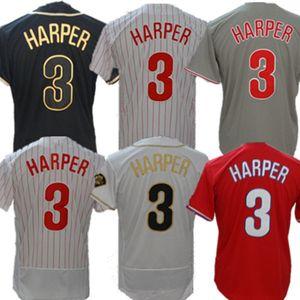 Phillies personalizado 3 Bryce Harper Jersey 20 Mike Schmidt 10 Darren Daulton McCutchen Aaron Nola Realmuto Franco Dykstra Williams Bruce Jerseys