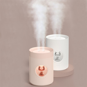 Ultrasonic Air Humidifier Difusor 800ML Dual Nozzle Cute Cat Portable USB Aroma Diffuser LED Lamp Air Mist Maker Humidificador Y200113