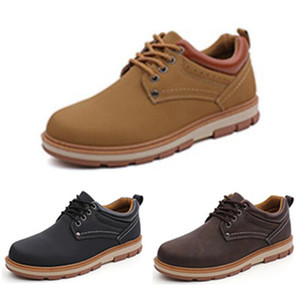 Fashion mens running shoes platform shoes color black dark blue brown coffee men trainers leather sports sneaker size 39-44