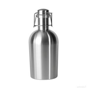 Growler in acciaio inox 32oz 64oz Single Wall Single Aspira Bottle Bottle Bottle Saver con cappuccio flip