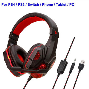 Wired Gaming Headphones with Microphone for PS4 PC Mobile phone Earphones Mic Stereo Supper Bass for Sony PlayStation 4 Earphone