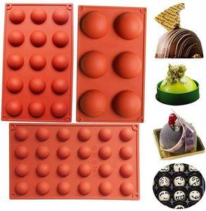 Ladrillo Red Hemisférico Molde Producto de Alimentos Pastel de silicona Bizates Chocolates Molde DIY RESISTENCIA DE TEMPERATURA DIY NUEVO 5YY J2