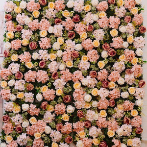 Simulation Flower Wall Rose Hydrangea ins Simulation Flower Silk Wedding Decoration Home Decoration Christmas1
