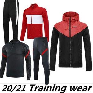 Veste de pluie Suit de l'entraînement pour adultes 20 21 NOUVEAU 2020 2021 HOME ET AWADSOCCER 2020 Football Uniformes Training Wearbreaker