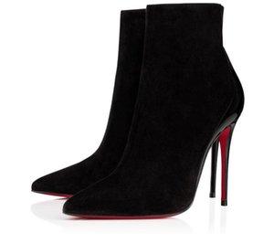 Inverno Elegante Lady Delicotte Veau Veau Velours Boots Botas Vermelhas Botinhas Veau Veau Veau Vea Vea Vea Vea Via Viagem Sexy Party Vestido De Casamento EU35-43