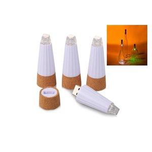 Led Light Up бутылки Пробка Usb Charge Luminous Пробка Cap бутылки вина Lamp Barware Кухня Бар Инструменты 12 5yx Ff