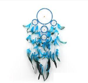 Big Dreamcatchers Wind Chime Net Hoops mit 5 Ringe Traumfänger für Auto-Wand-Hängen Plaint Ornaments Dekoration Dx Free