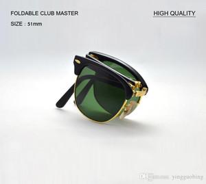 جديد بالجملة 51 ملليمتر uv400 ريال زجاج عدسة نظارات الشمس ماركة مصمم طوي قابلة للطي مكبرة للنساء الرجال ov حماية أعلى جودة gafas