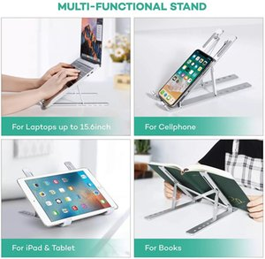 Laptop Table Stand With Adjustable Folding Aluminum Holder Notebook Desk For Macbook Pro Netbook PC Bracket Mobile Phone Stand