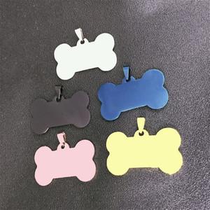 Nom de la mode Custom Custom Engrave Nom Glossy Bone Dogs Tags Colliers Femmes Noir Or Argent En Acier Inoxydable Pet Cat Tag Collier Collier Bijoux 112 G2