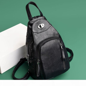 Designer-Casual Women Backpack High Quality Leather Chest Bag Female Large Capacity School Shoulder Bags for Girls Travel Backbag