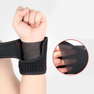 Fashion 1 Piece Elastic Sport Bandage Wristband Belt Carpal Tunnel Hand Wrist Support Brace Solid Black
