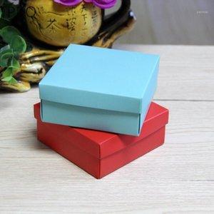 Подарочная обертка 20шт синий красный цвет бумаги коробка ручной работы мыло упаковки ручной работы / торт / конфеты картон упаковки1