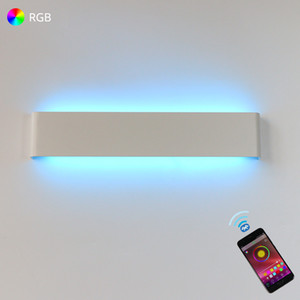 LED Wall Light RGB Dimmable Bluetooth APP Remote Control Wall Lamp For Decorative Atmosphere Connect to AC220V 110V Wires 1020