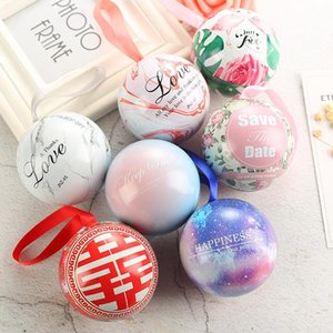 10pieces Wedding Candy Box , Spherical European -Style Small Gift Box Tinplate Ball Candy