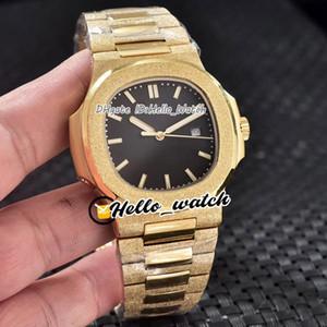 Yeni Spor 40mm 5711 5711R-001 Altın Doku Dial Otomatik Erkek İzle Don Altın Buzlu Sarı Altın Kılıf Bilezik Gents Saatler Hello_Watch.