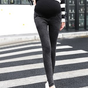 Pregnancy Skinny Trousers jeans Over The Pants Elastic ropa maternal Maternity clothes embarazo#40 C1009