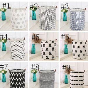 Корзины для хранения Корзины Детские игрушки хранения корзины для стирки Складная Грязная одежда Bucket водонепроницаемый мешок прачечного горошек Кактус BWB2163