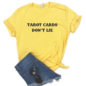Tarot Cards Don't Lie Print Women Tshirts Cotton Casual Funny t Shirt For Lady Top Tee Hipster 6 Color NA-6931