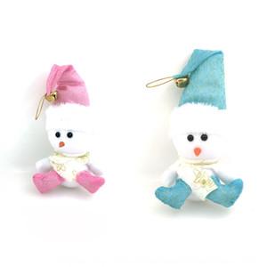regalo decorativo con el muñeco de nieve sentado postura árbol decoración de la mesa colgante de regalo C decorativo con la postura sentada del muñeco de nieve Christma