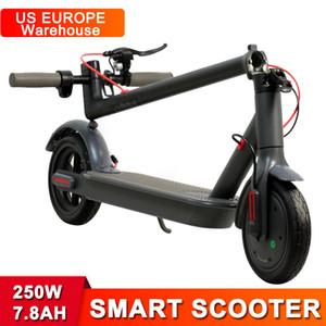 EUA Europa armazém dobrável scooter elétrico scooter 250w 36v 7.8ah bateria 8.5inch pneu sólido scooters inteligentes com aplicativo Bluetooth
